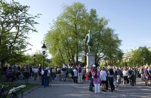 2011 hölls en manifestation till minnet av almarna i Kungsträdgården. Skådespelaren Johannes Brost intog rollen som August Strindberg och döpte om Karl XII Torg till Almtorget, något som inte var förankrat hos Stockholms stad.