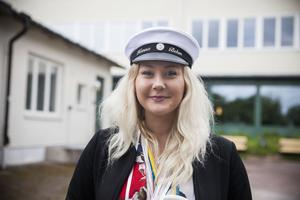 Hanna Behm var en av studenterna som sprang ut 12.45 på Högbergsskolan.