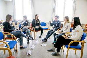 Under första övningen fick grupperna berätta om händelser som påverkat dem.