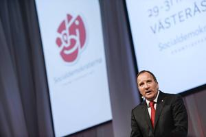 En påtagligt inspirerad Stefan Löfven öppnade S-kongressen på fredagseftermiddagen.