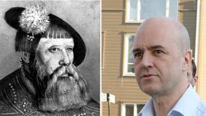 Gustav Vasa och Fredrik Reinfeldt.
