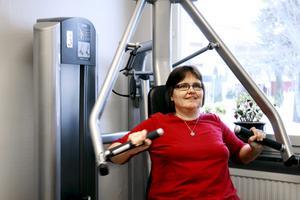 Omstart för Anette. Efter nyår bestämde sig Anette Hammer för att börja träna igen. Tack vare gymet i Pålsboda, där hon jobbar, hinner hon ta en stund nästan varje dag.