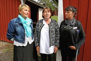 Inga Murmäster, Eva Pers och Helen Hedlund har tillsammans jobbat ideellt för att få ihop lunchen.