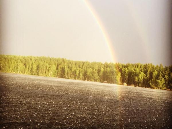 Owao...så häftigt att få sitta vid regnbågens slut :D