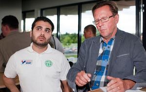 Haci Aslan, sportsligt ansvarig och Peter Brandt ordförande i VSK:s styrelse.