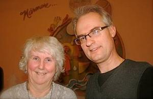 Kerstin Kruger-Johansson och Anders Gustafsson omvaldes på tre år.                           Foto: Tommy Norin