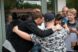 I samband med prisutdelningen så tog sig Vigge tid att fotograferas tillsammans med unga fans.