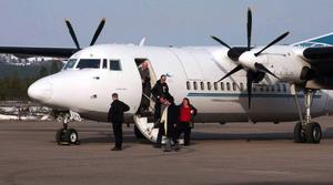 Svegsflyget har fått en positiv utveckling och den 28 januari startar direktflyget mellan Stockholm och Röros.Foto: Privat