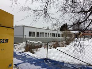 En del av den barack, som först var avsedd för SFI i Mellansel, men som snart även kommer att inrymma grundskolan.