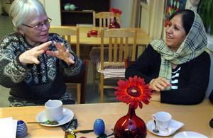 Ragnveg Olshammar och Homa Jala pratar om nyårsfirande.