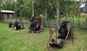 Motorer från slutet av 1800-talet och tidigt 1900-tal fanns på plats.
