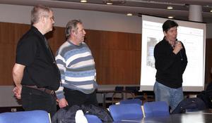 ROOP mobiliserar med från vänster Anders Fransson, Christer Johansson och Robert Johansson.