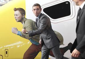 """Jamie Bell """"spelar"""" Tintin i filmen."""