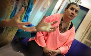 Nagla Negm el-dins man drabbas av hjärnblödning och måste opereras om och det fick allvarliga konsekvenser. Foto: Staffan Björklund