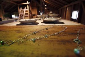 Evelina Envall som driver Bommars gård i Letsbo är nöjd med dagen. Hon fick bland annat chans att visa upp gårdens smyckeskollektion.