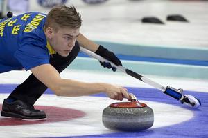 Med blicken fäst på seger. Christoffer Sundgren kan få utmärkelsen årets lag i kommande idrottsgala.