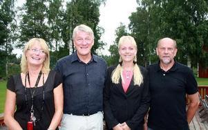 Catharina Thyr Carlsson, administrations- och ekonomiansvarig, Alf Vigren, utbildningansvarig, Carina Isenberg, vd och Börje Hagman, utbildningssamordnare.FOTO: ANGELICA LINDVALL