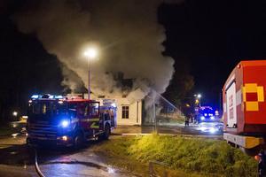 I oktober 2014 förstördes det gamla stationshuset vid Wij bruk i Ockelbo i en kraftig brand.