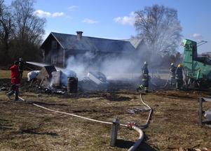 Brand i Skålö. Foto: Göran Danilesson