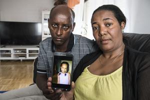 Yosef Getachew och Hana Araya förlorade sin sexåriga dotter Yohanna i en olycka.