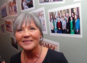 Monica Aronsson trivdes i jubileumsmiljön.