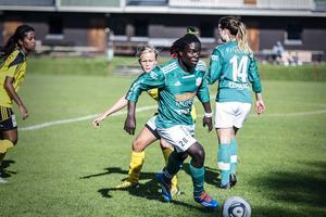 Tabitha Chawinga, som gjorde succé med 39 mål i K/D, är nu klar för elitettan, men inte ÖDFF utan Kvarnsveden i Dalarna.