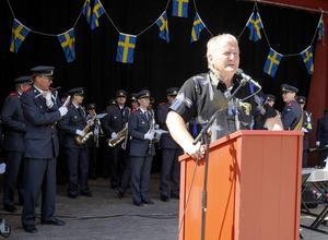 Per Söderberg var konferencier vid nationaldagsfirandet.