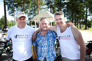 Åke Lindqvist, Niklas Hilbrands, Thomas Öberg på en bild från festivalen i somras.