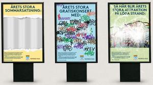 Så här kan kampanjens reklamskyltar se ut.