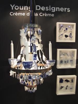 Ida Överby står bakom designen av den här annorlunda ljuskronan.