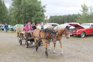 Häst och vagn är nytt för i år och var populärt bland de yngre besökarna.