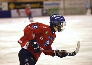 Med fyra gjorda mål ligger Oscar Wikblad på tredje plats i interna poängligan, bakom Jonas Edling och Mattias Hammarström