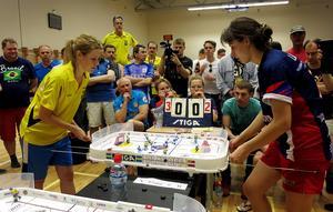 Caroline Eriksson mötte ryskan Viktoria Laricheva i finalen. Foto: Jimmy Mårdell