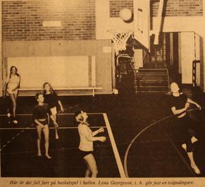 1971. I Norberg spelades det basket på lovet.