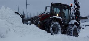 Sala kommun hade ett 30-tal snöröjare i gång på fredagen.