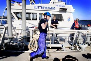 Vill flytta. Kustbevakningen finns i dag inne på hamnområdet i Fredriksskans. Men nu vill man flytta till en annan kaj.