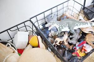 Jack har så lite leksaker i plast som möjligt. Djuren som han tycker mycket om är ett undantag, men de är gjorda i plast som ska vara så bra som möjligt.