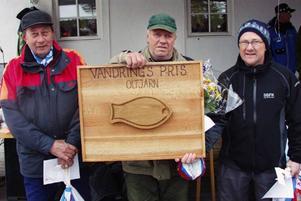 Topptrion i Hedepimpeln; tvåan Gunnar  Eriksson, Norrtälje, segraren Åke Persson, Leksand, och trean Lars Ove Eriksson, Sveg.