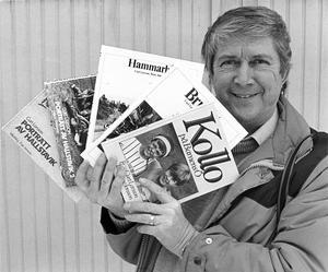 Curt Larsson (1932-2013) och hans fotoböcker från Hallstavik, Hammarby och Barnens ö.