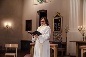Helena Markfjärd predikade bland annat om barns betydelse.