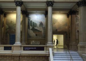 John White Alexander's muralmålning Crowning of Labor i Carnegie Museum of Art i Pittsburgh är från 1907 och 1908.