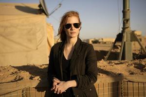 "Jessica Chastain spelar CIA-agenten Maya, som aldrig ger upp i jakten på Usama bin Ladin i ""Zero Dark Thirty""."
