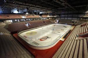 Nya Läkerol Arena fotograferad i augusti 2006.