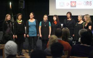 Sånggruppen Farin var ett av uppträdandena under Kvinnodagsfirandet.