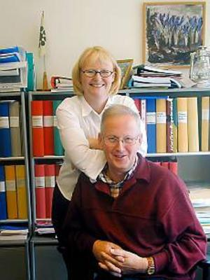 Arkivbild: ULF GRANSTRÖM Omvälvande. Marie-Louise Dangardt tycker att den första tiden som kommunalråd har varit omvälvande. Här är hon tillsammans med sin företrädare Kjell Höglin.