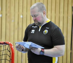 Klockarbergets tränare Patrik Karlsson.