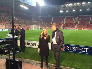 Tisdag, Karaiskakis-stadion, Pireus: Sista intervjun med Åge Hareide för den här gången. Det har varit ett nöje!