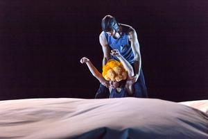 Dansarna byter roller med varandra, mångfaldigar den Lille Prinsen, flygaren och rosen.