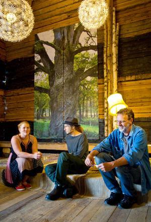 Elin Eriksson, Richard Svanström och Yngve Gunnarsson är medlemmar i föreningen Konst & Landskap och är med och arrangerar festivalen.