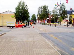 Underredsmassan spred längs Fjällvägen.
